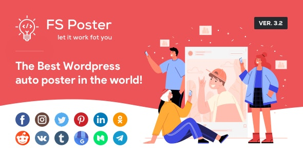 FS Poster 4.3.2 Nulled - WordPress Auto Poster & Scheduler Image