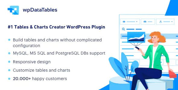 wpDataTables 3.3 - Tables and Charts Manager for WordPress Image