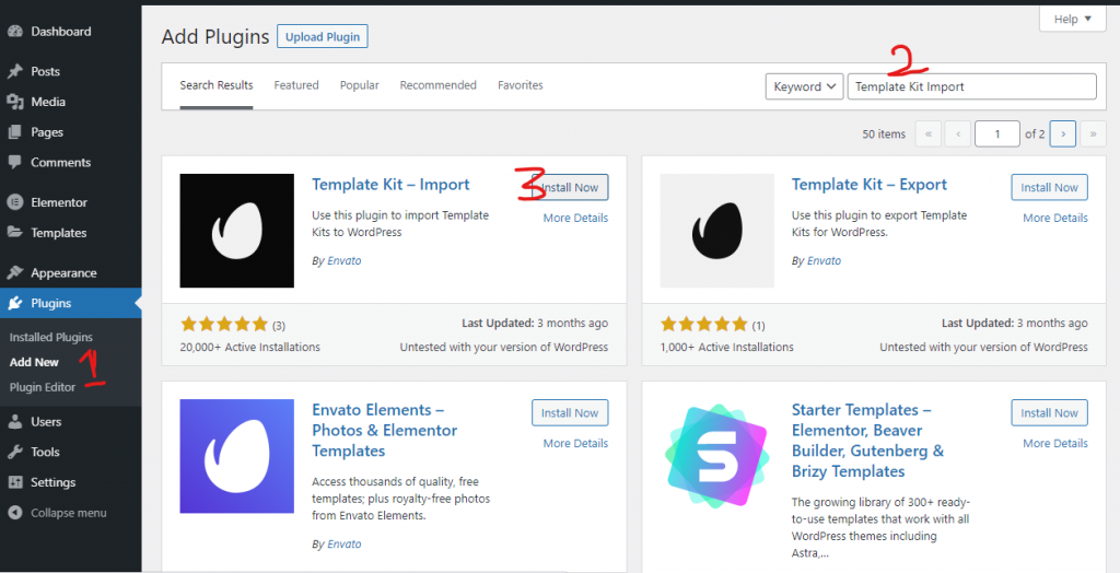 How to Install Elementor Template Kits Image